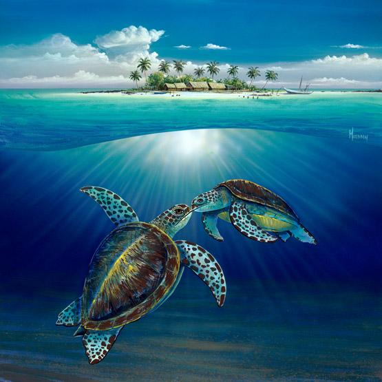 Sea Turtle Island Medium – Wyland Worldwide